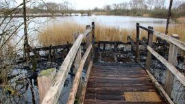 L'observatoire qui dominait le marais de Cambrin a été détruit dans un incendie, lundi soir. PHOTO CEN