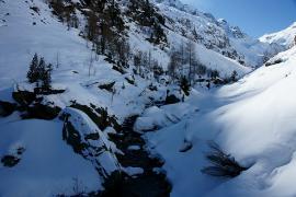 Le vallon de Bérard en hiver - © J. Heuret