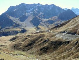 Le massif du Combeynot vu du nord-ouest - © Mossot / Wikipedia