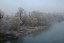 Le Rhône au pont d'Evieu - © R. Quesada