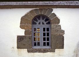 Encadrement de fenêtre en prasinite - © M. Jonin