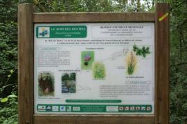 Panneau dans la réserve naturelle - © CEN Centre
