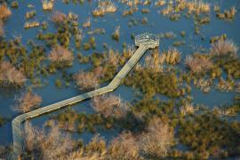 Vue aérienne du sentier - © S. Baudouin / SMCG
